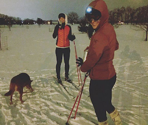 Active Crew Ashleigh and Elena Cross Country Skiing