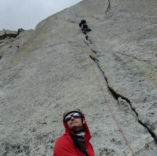 John Anderson Tetons Climbing